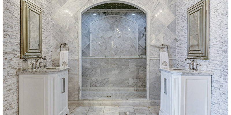 Escape To France Or Italy With Marble Tile Traditional